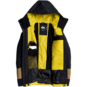 Quiksilver Sycamore Chaqueta Hombre, negro/amarillo